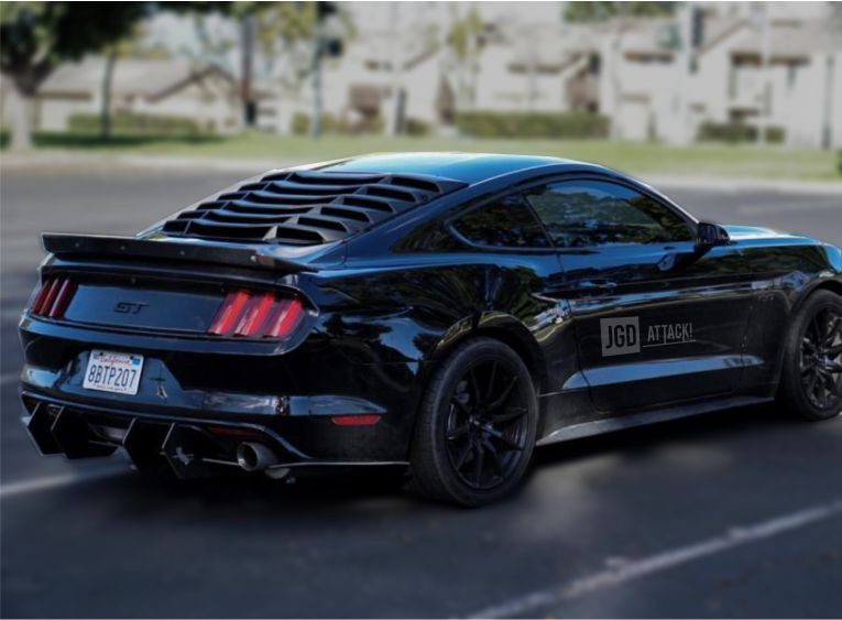 Rear Window Louver - Matte Black (MUSTANG 15-20 Fastback)