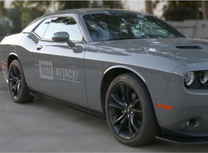 Side Skirts - Matte Black (CHALLENGER 15-21)