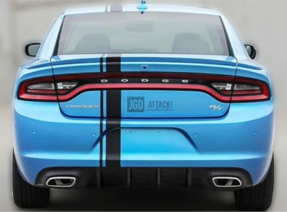 V2 IK Style Rear Bumper Lower Diffuser (CHARGER 15-20 SXT)