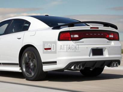 SRT IKON Quad Hole Rear Bumper Lower Diffuser (CHARGER 12-14 SRT)