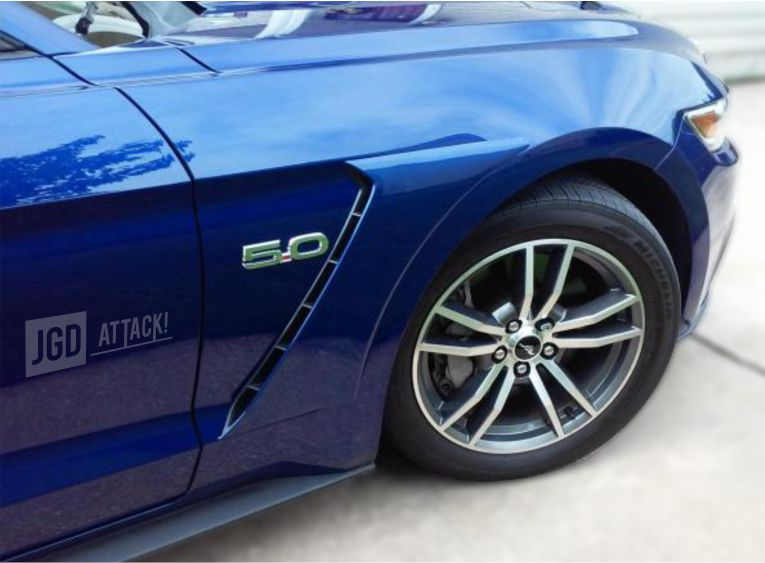 GT350 Style Fender Scoops - front (MUSTANG 15-20 Ecoboost, V6, GT)