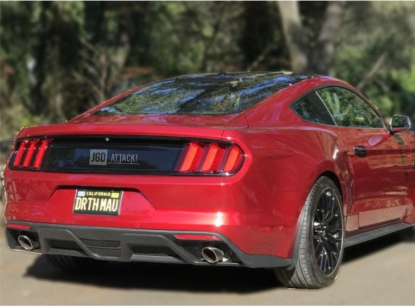 GT350 Style Rear Diffuser - Single Hole (MUSTANG 15-17 GT Premium, EcoBoost Premium)