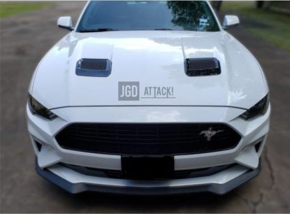 Hood Vents - Gloss Black (MUSTANG 18-20 GT, EcoBoost)