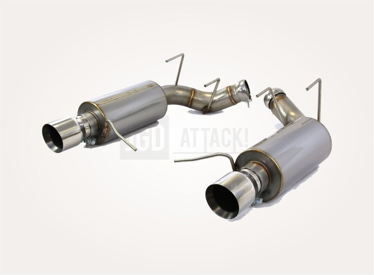 STEEDA Axle-Back Exhaust 5.0L Coyote - Aggressive Tone (MUSTANG 11-14 GT)