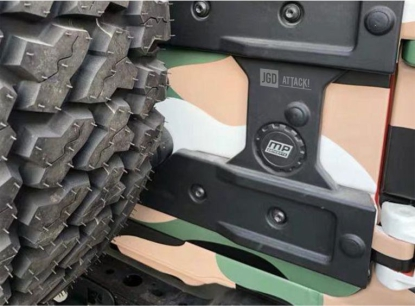 Tailgate Reinforcement and Oversize Spare Tire Carrier Mounting Bracket Kit (WRANGLER 18-20 JL)