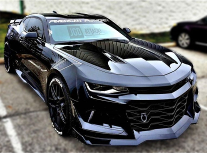 Front Bumper + Grille + Splitter + Winglets ZL1/1LE Style (CAMARO 16-18 LT/RS/SS)
