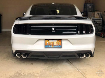 GT350 Style Rear Diffuser - Quad Hole (MUSTANG 15-17 GT Premium, EcoBoost Premium)