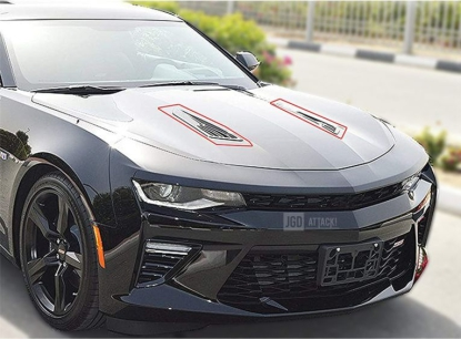 SS Style Hood Vent Louvers (CAMARO 16-18 LT/RS)